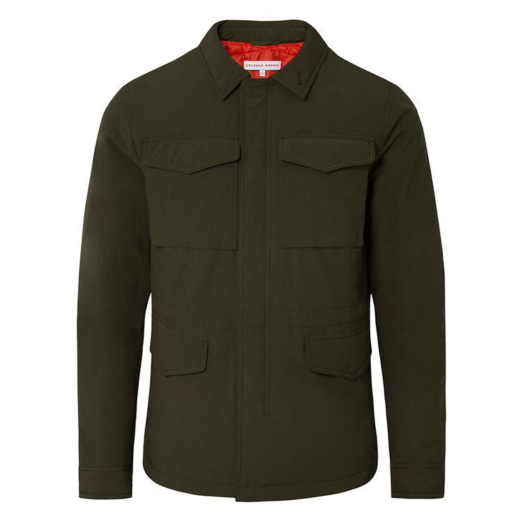 Orlebar Brown Military Green DUNCAN Forest Green Classic Four-Pocket Utility Jacket