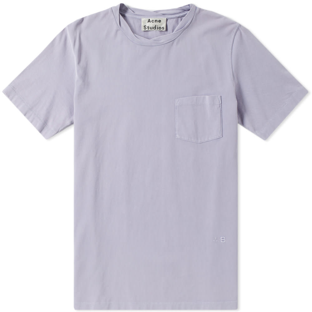 Acne Lilac Wash Judhe Washed Pocket Tee