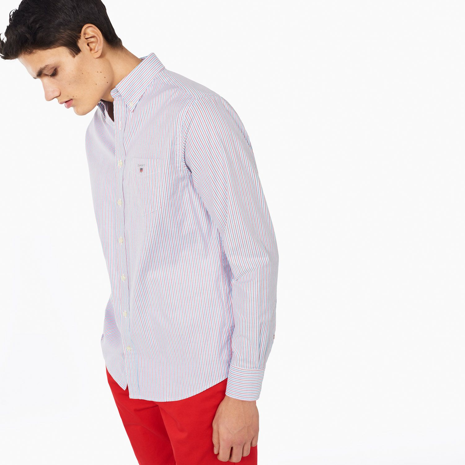 Gant Bright Red GANT Comfort Oxford Stripe Shirt