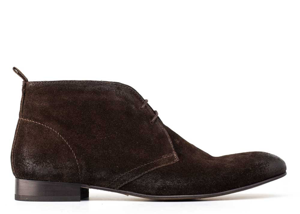 Base London Brown Trader Greasy Suede