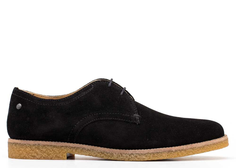 Base London Black Whitlock Suede