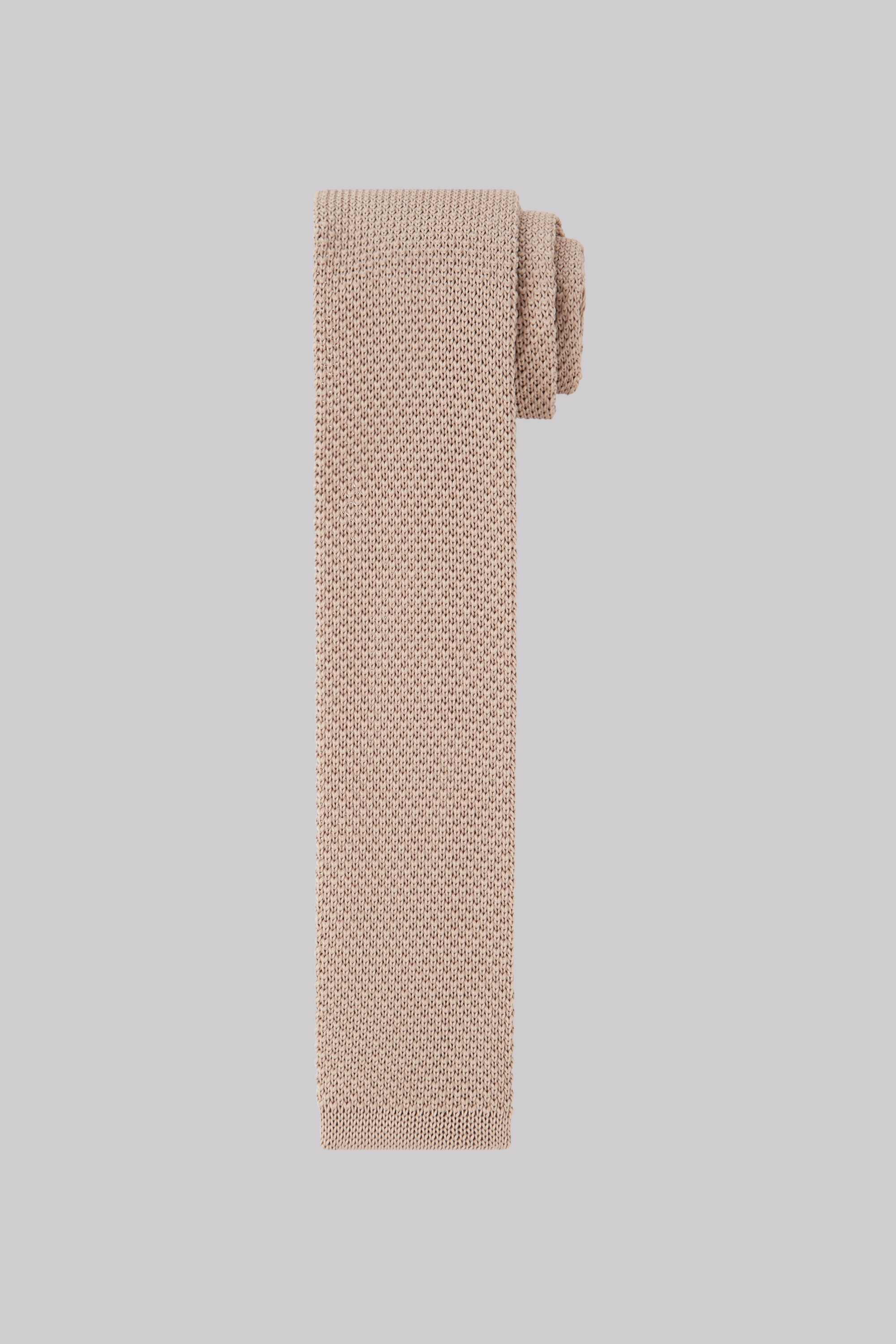 Moss Bros Moss London Stone Knitted Skinny Tie