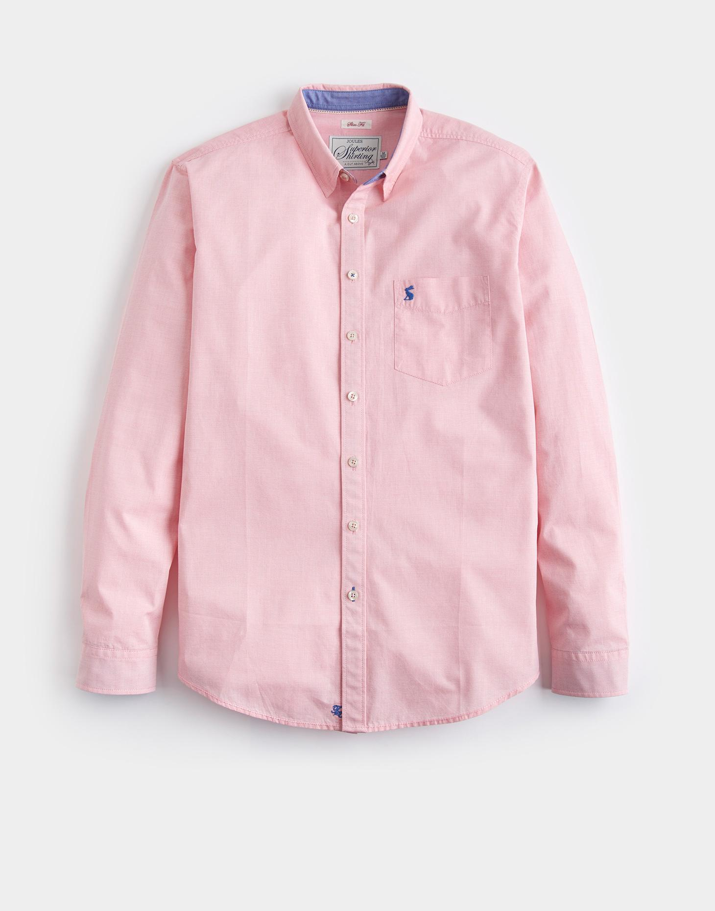 Joules Coral Stripe LYNDHURST Slim Fit Shirt