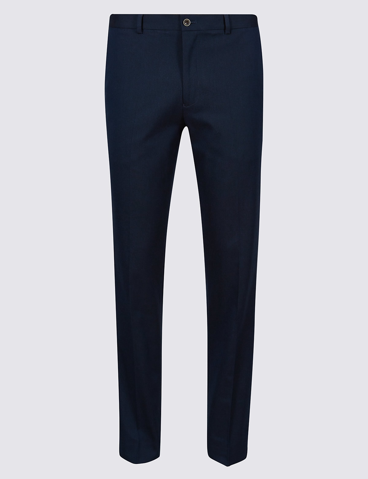 Marks & Spencer Navy Tailored Fit Trousers