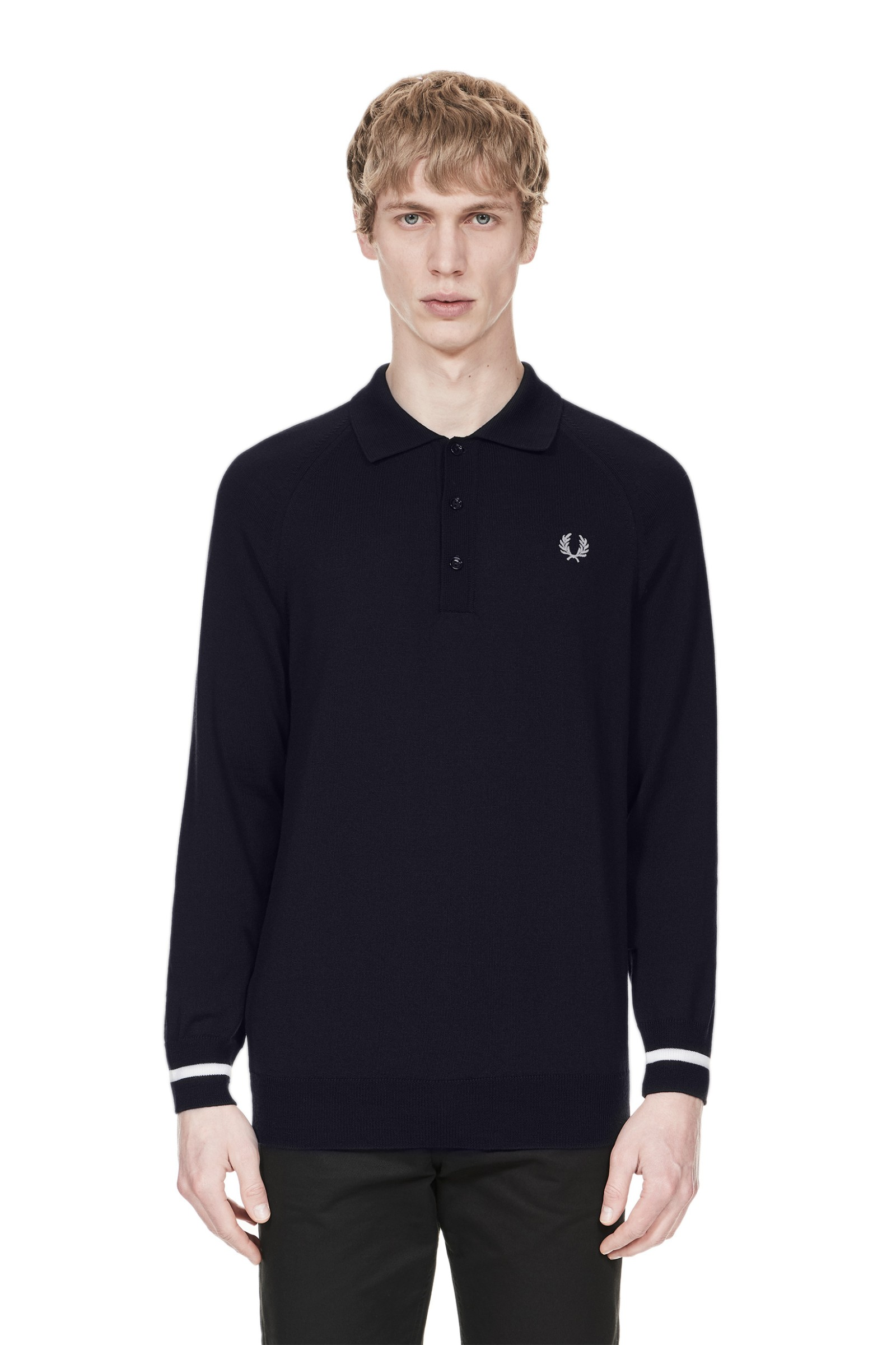 Fred Perry Reissues Long Sleeve Knitted Shirt