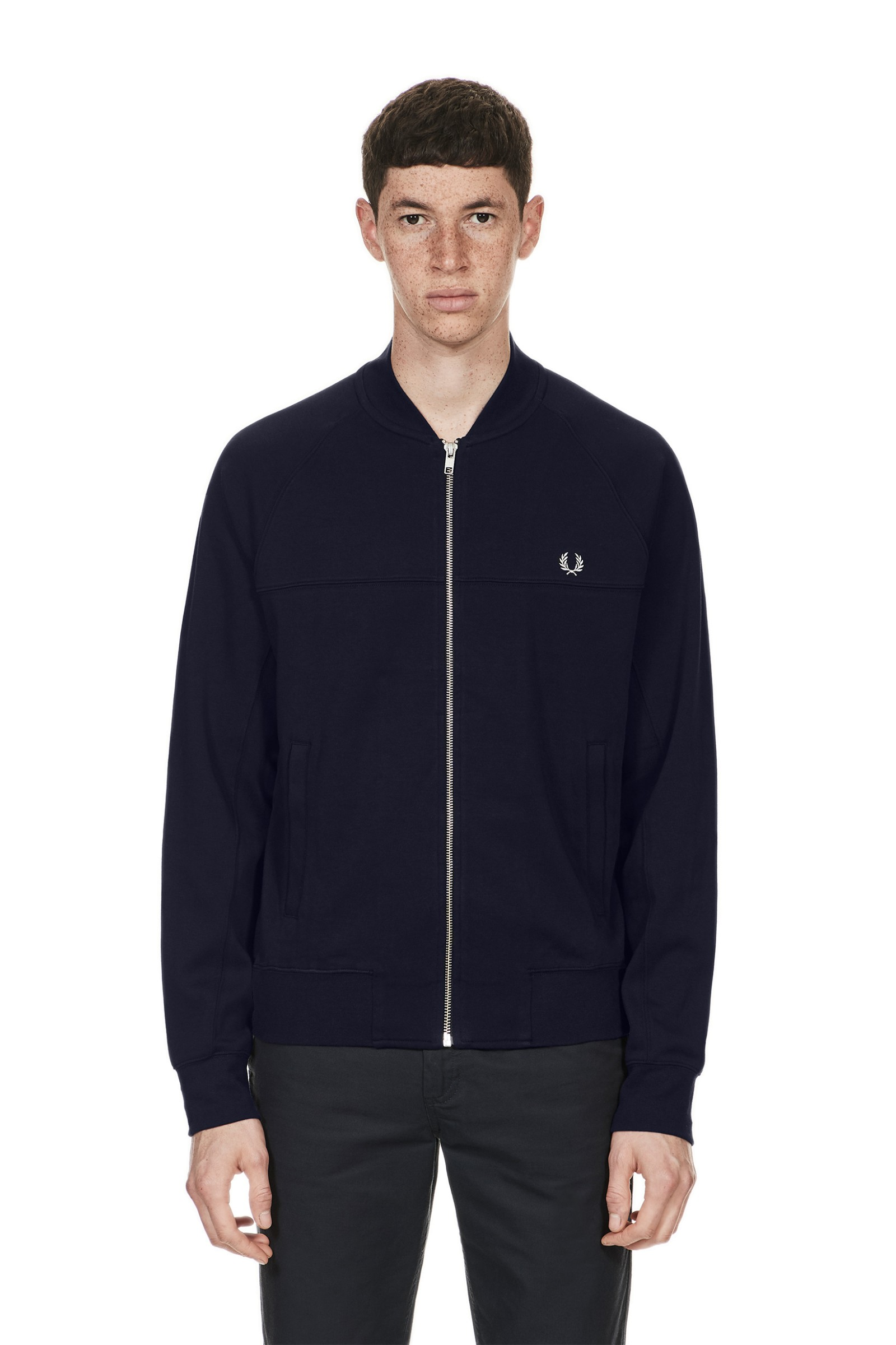 Fred Perry Panelled Bomber Neck Sweat