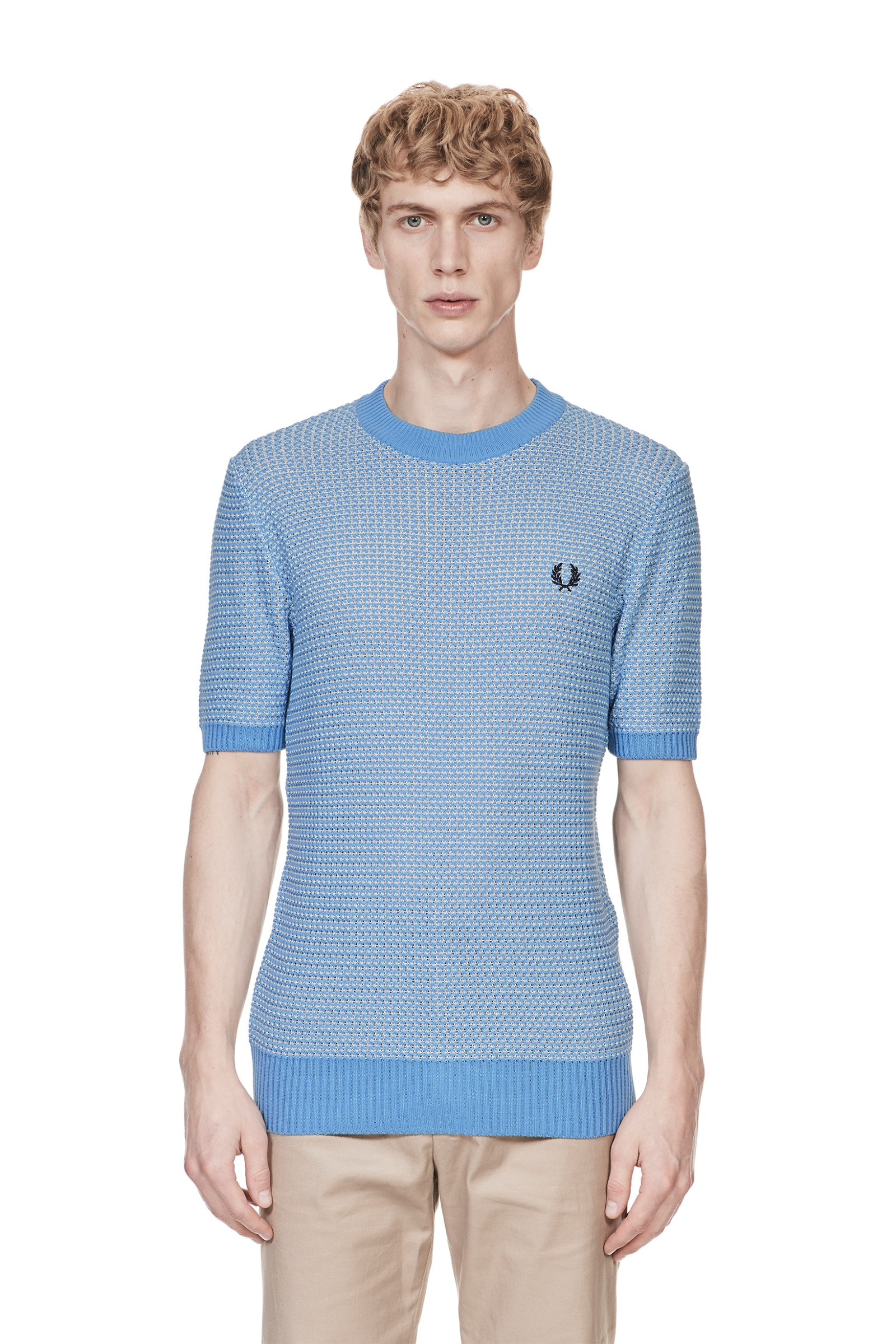 Fred Perry Reissues Two Colour Knitted Crew Neck