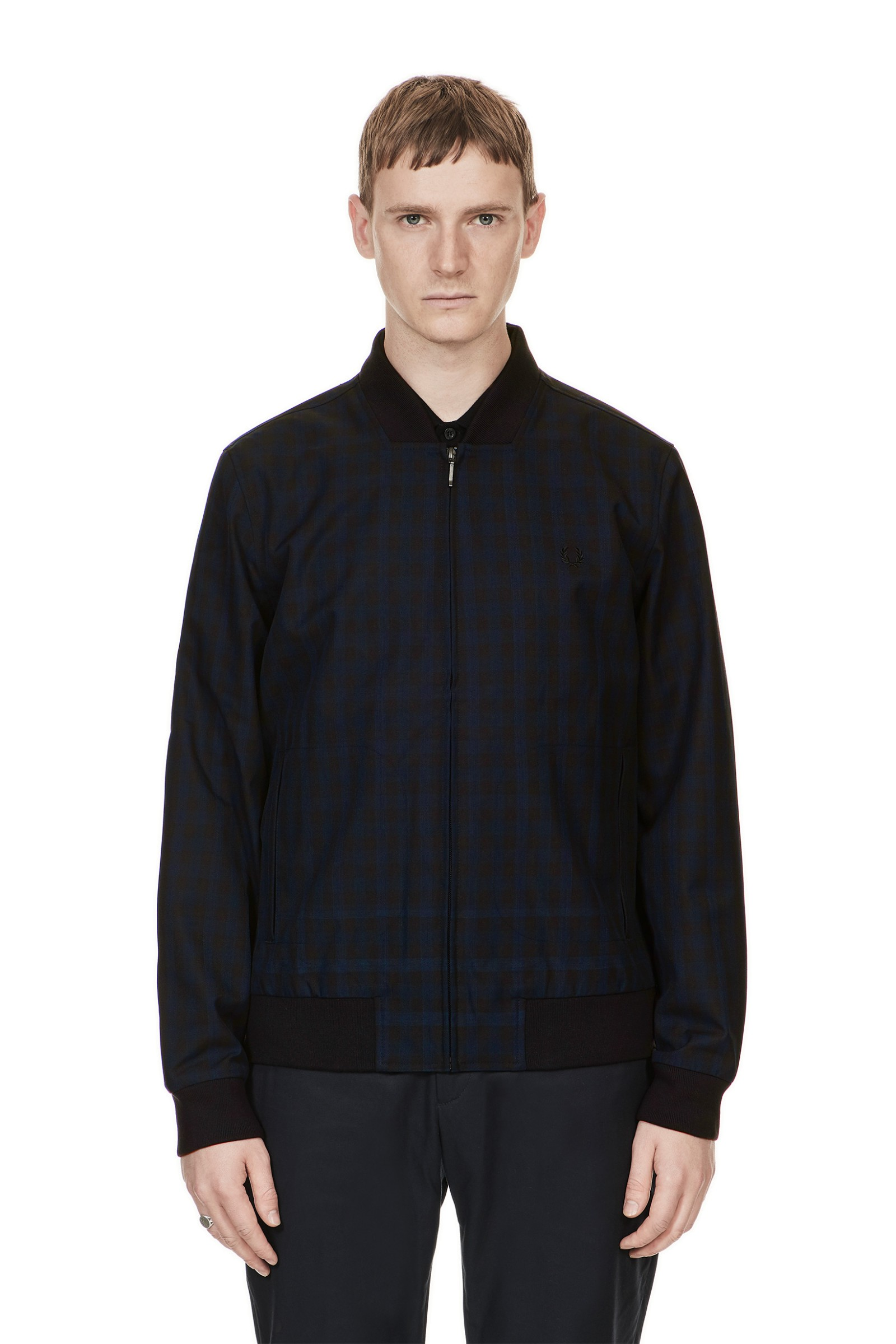 Fred Perry Check Bomber Jacket