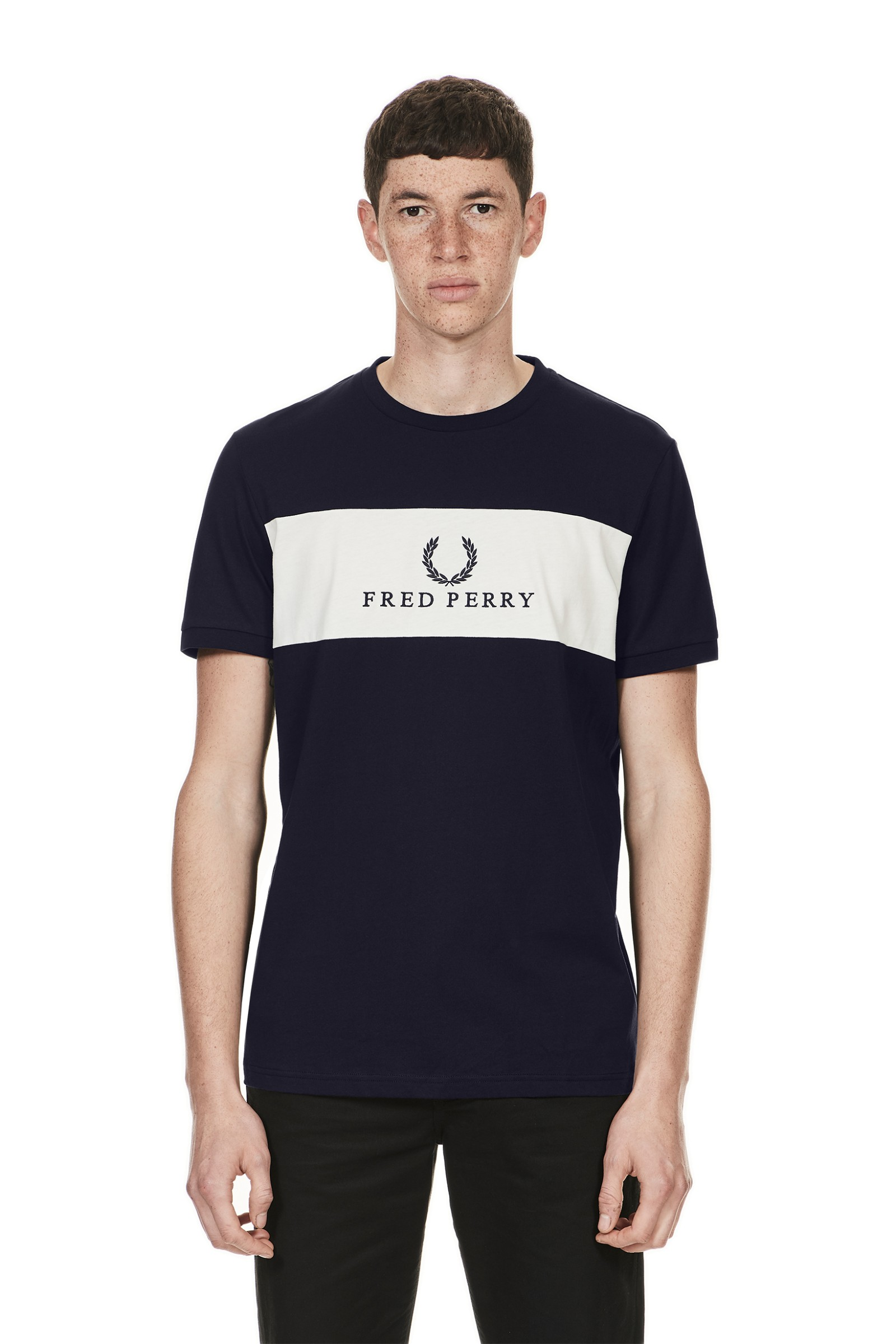 Fred Perry Sports Authentic Embroidered Panel T-Shirt