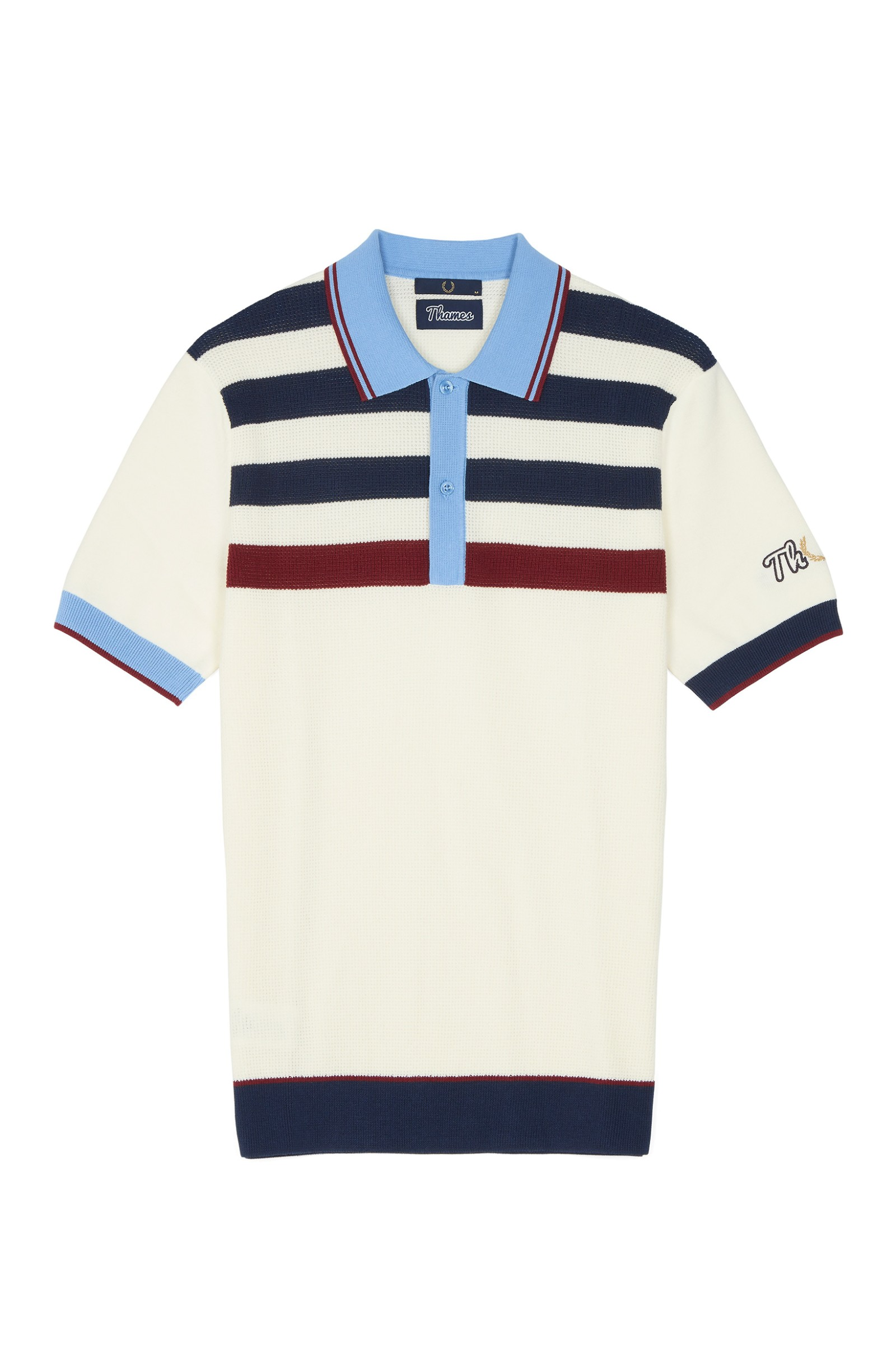 Brand Mens Textured Knitted Polo find