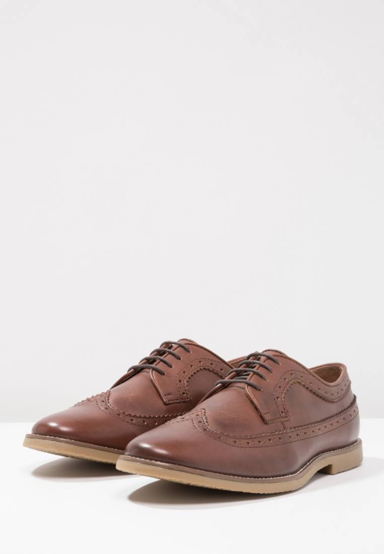 YOURTURN brown Lace-ups