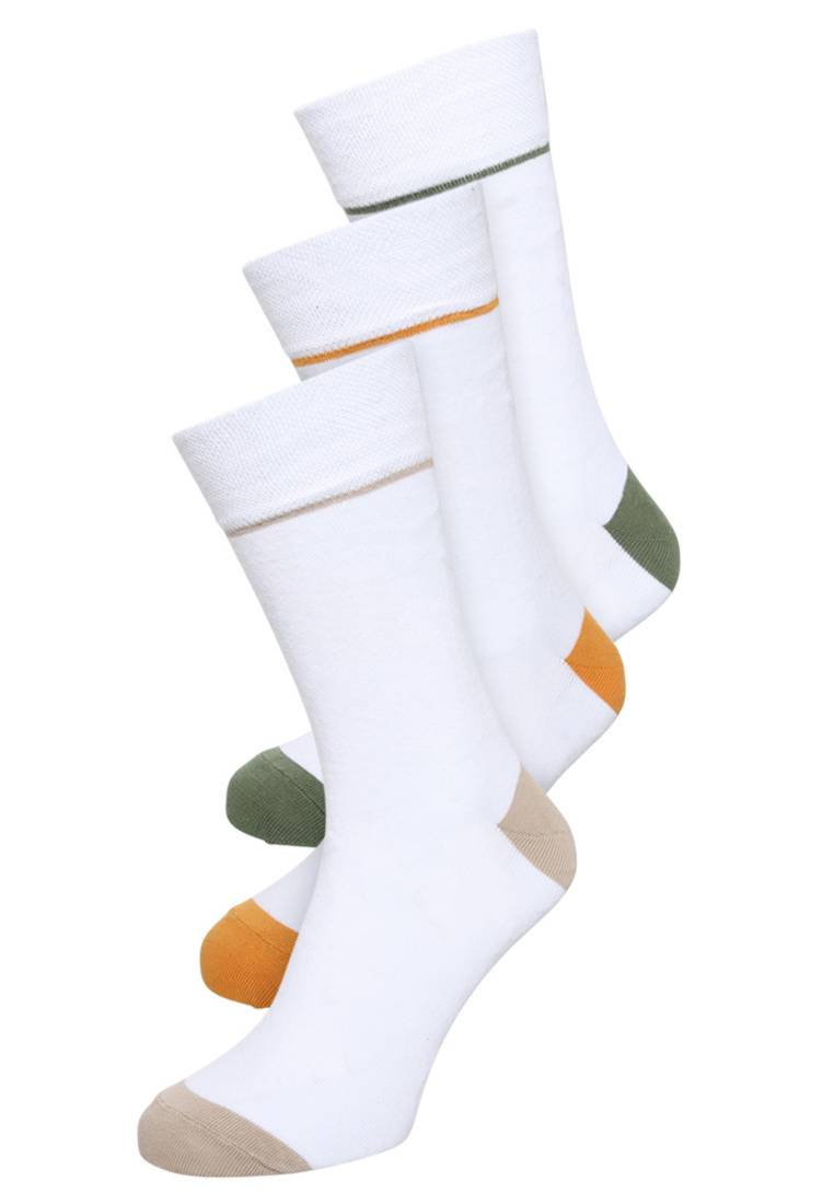 YOURTURN white 3 PACK - Socks