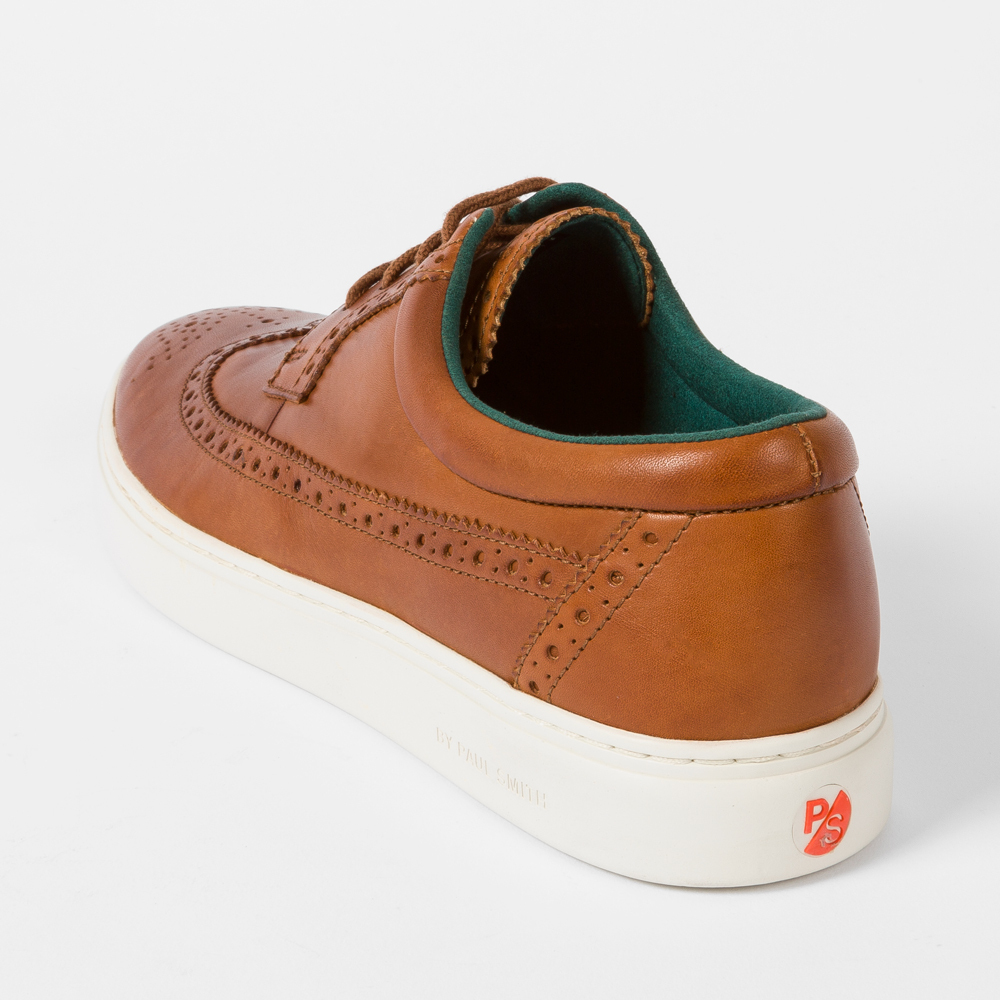 Tan Leather 'Rupert' Brogue Trainers