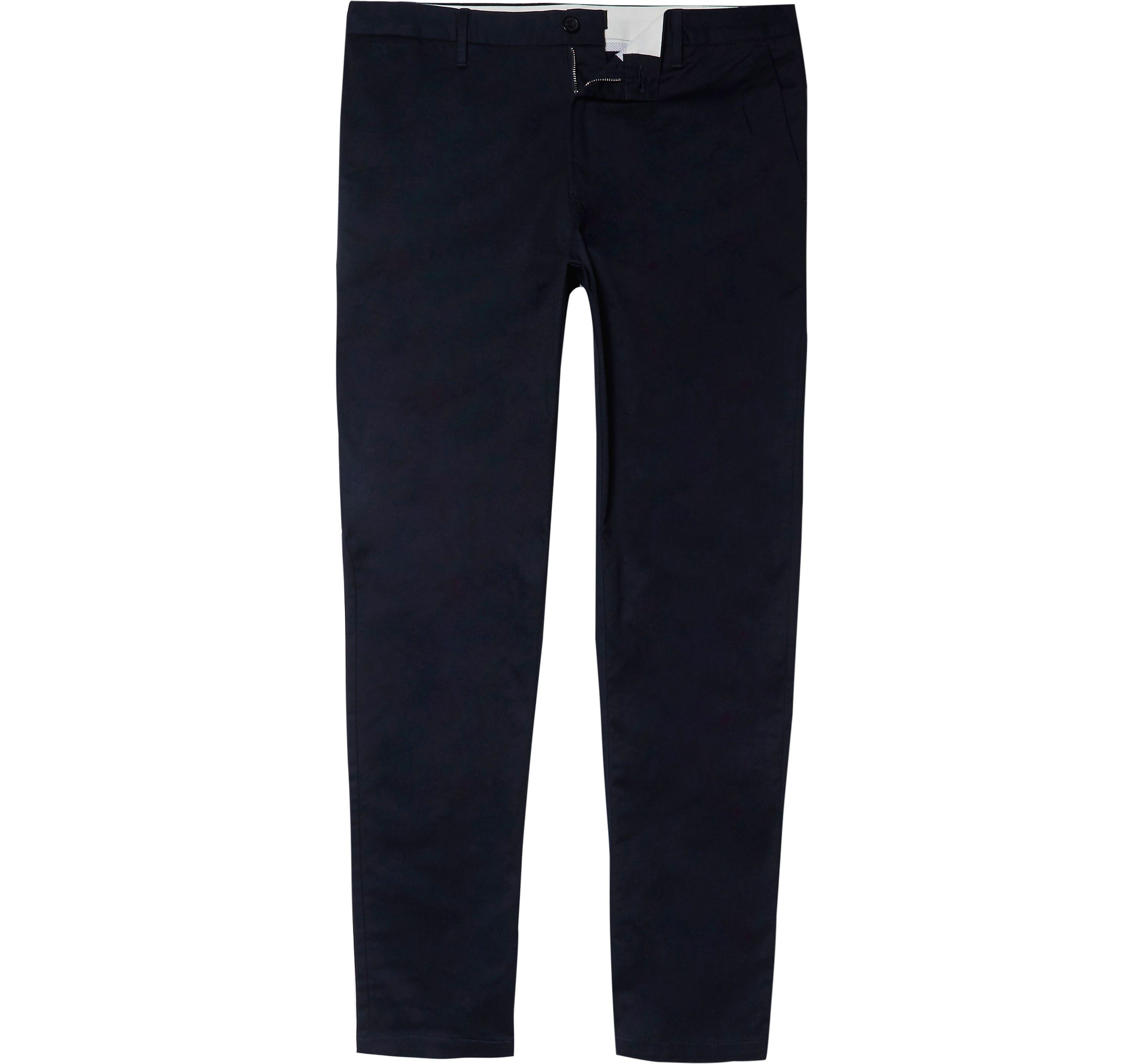 River Island Mens Navy slim fit chino trousers