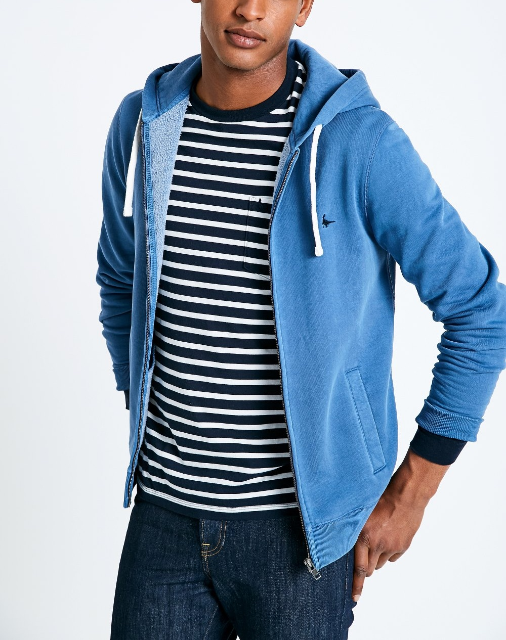 Jack Wills Marine PINEBROOK ZIP UP HOODIE