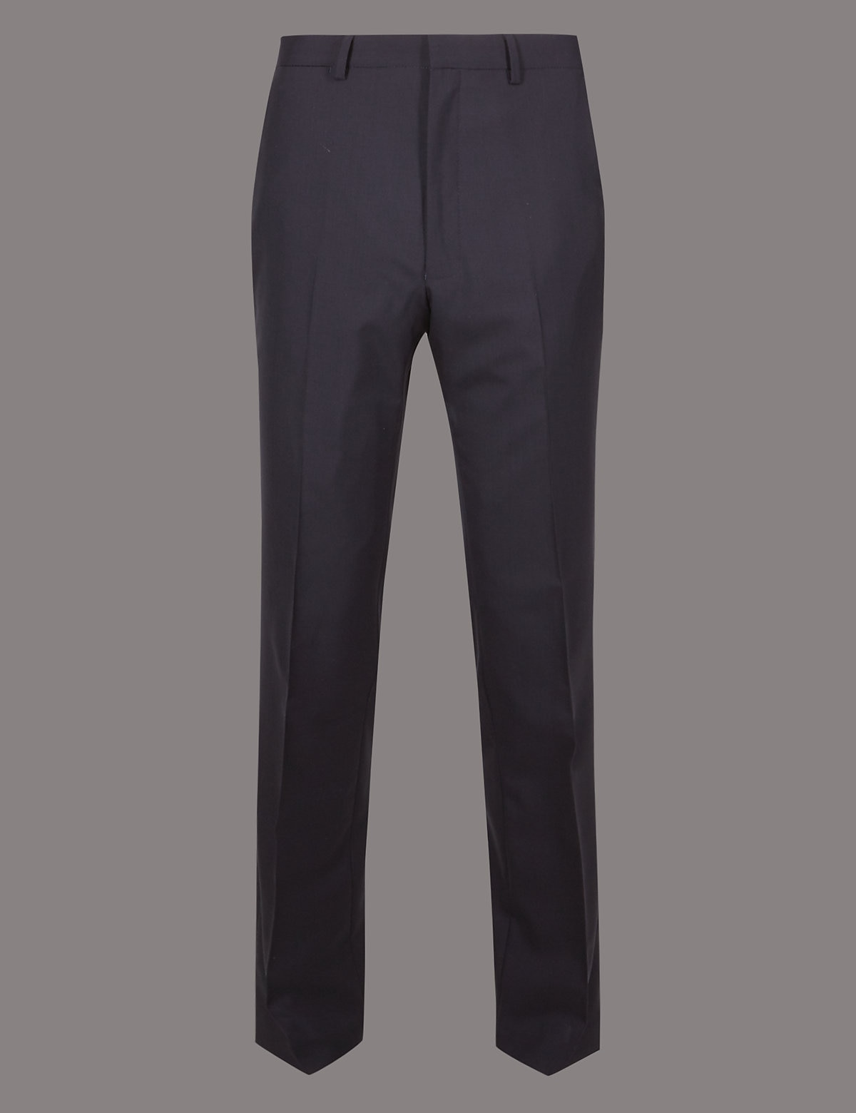 Marks & Spencer Dark Navy Navy Tailored Fit Italian Wool Trousers