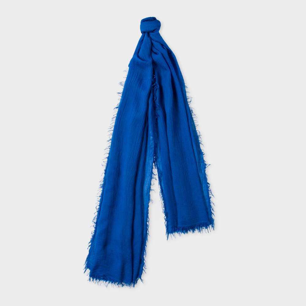 Paul Smith Men's Sky Blue Overdyed Scarf