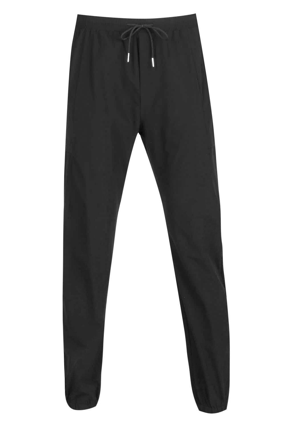 boohooMAN black Woven Jogger With Pocket