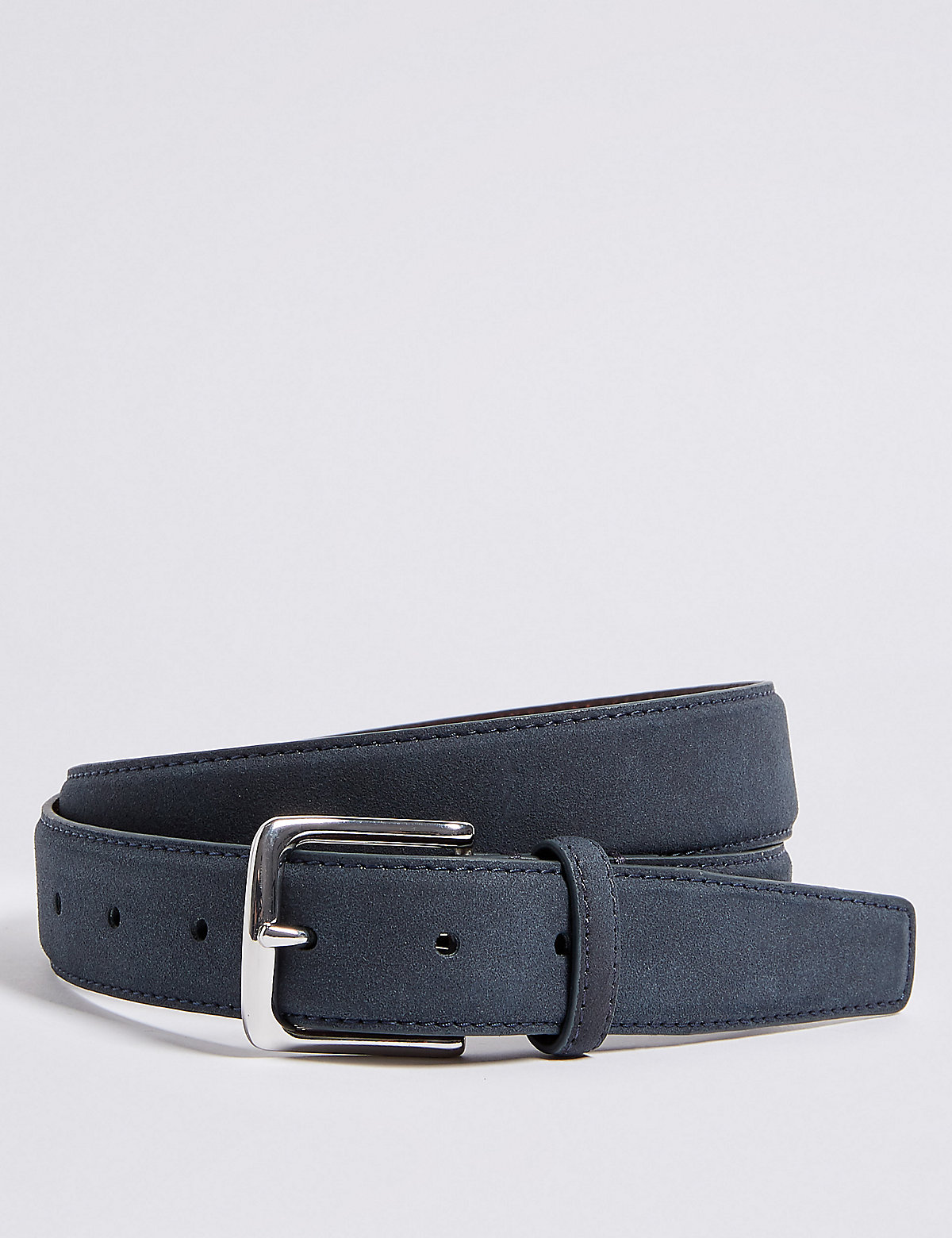 Marks & Spencer Navy Faux Suede Feather Edge Casual Belt
