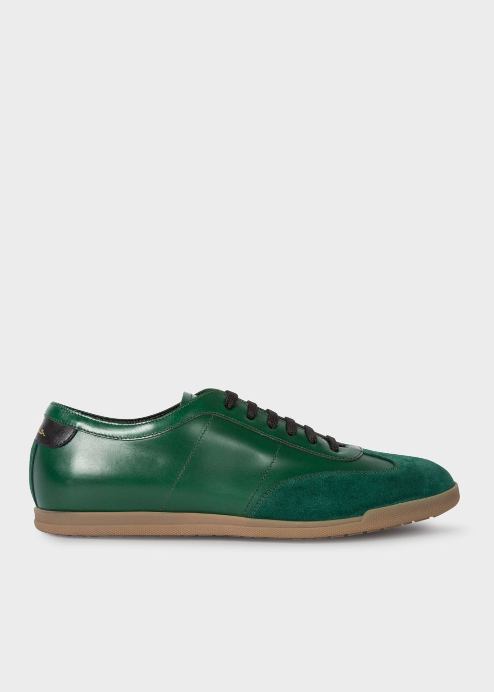 Paul Smith Men's Green Leather 'Holzer' Trainers
