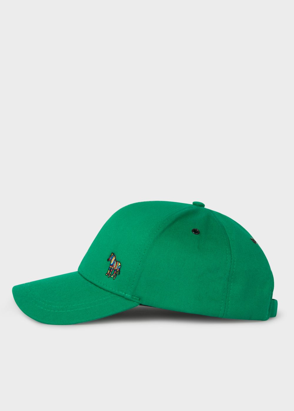 Paul Smith Men's Green Cotton Zebra Logo Baseball Cap