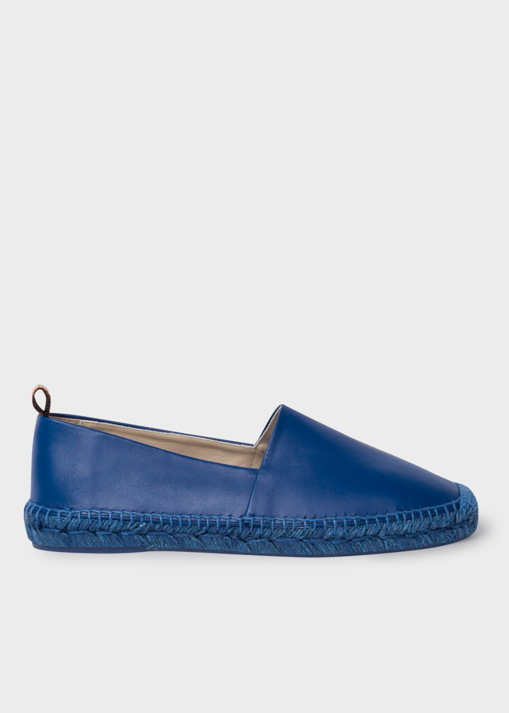 Paul Smith Men's Blue Leather 'Sunny' Espadrilles