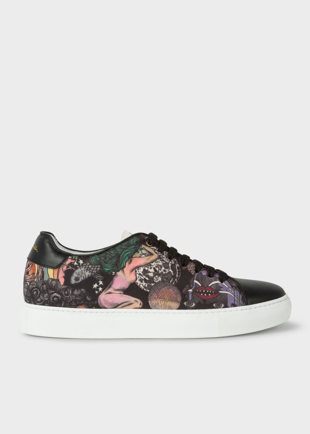 Paul Smith Men's 'Psychedelic Sun' Black 'Basso' Trainers