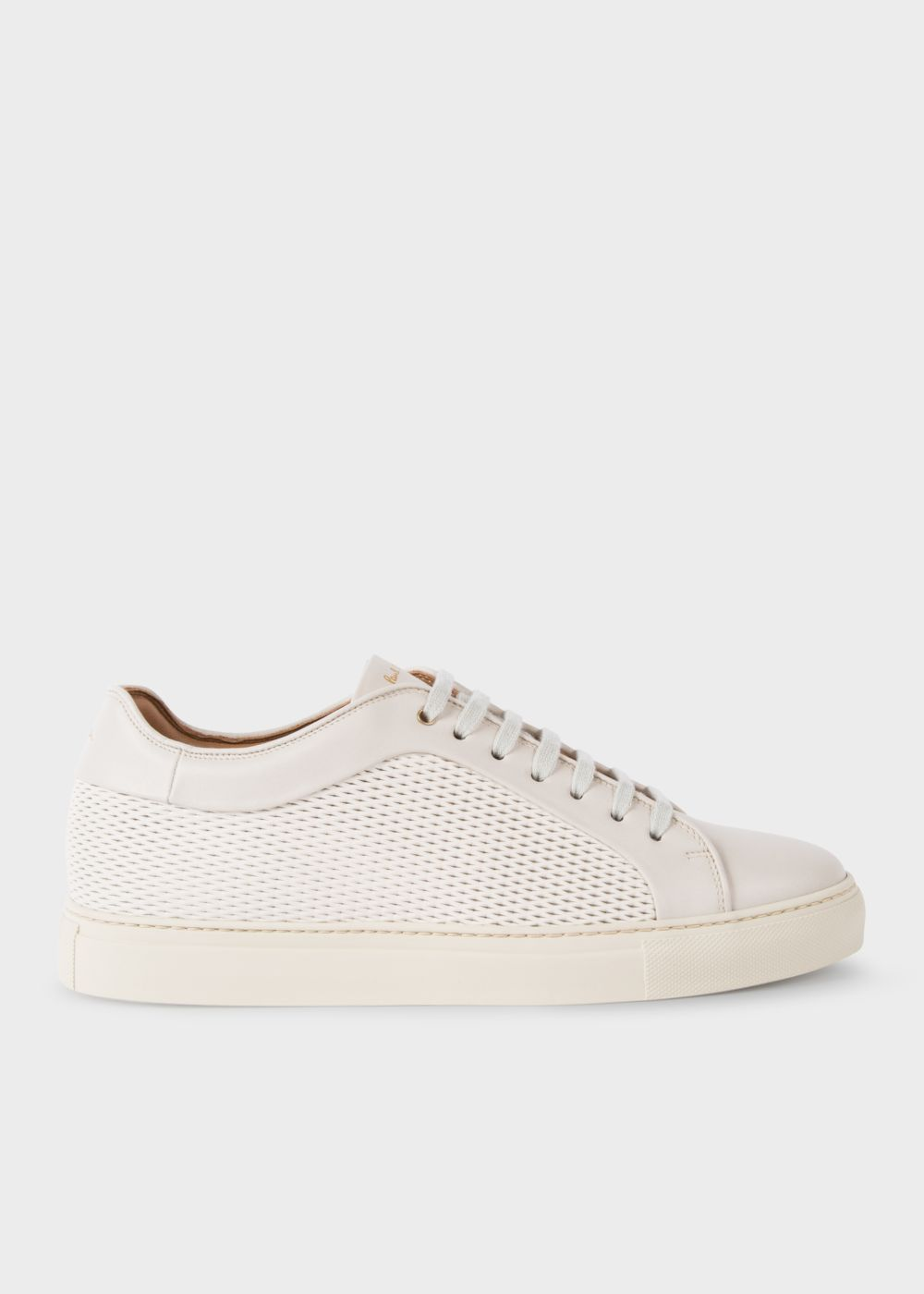 Mesh-Effect Leather 'Basso' Trainers