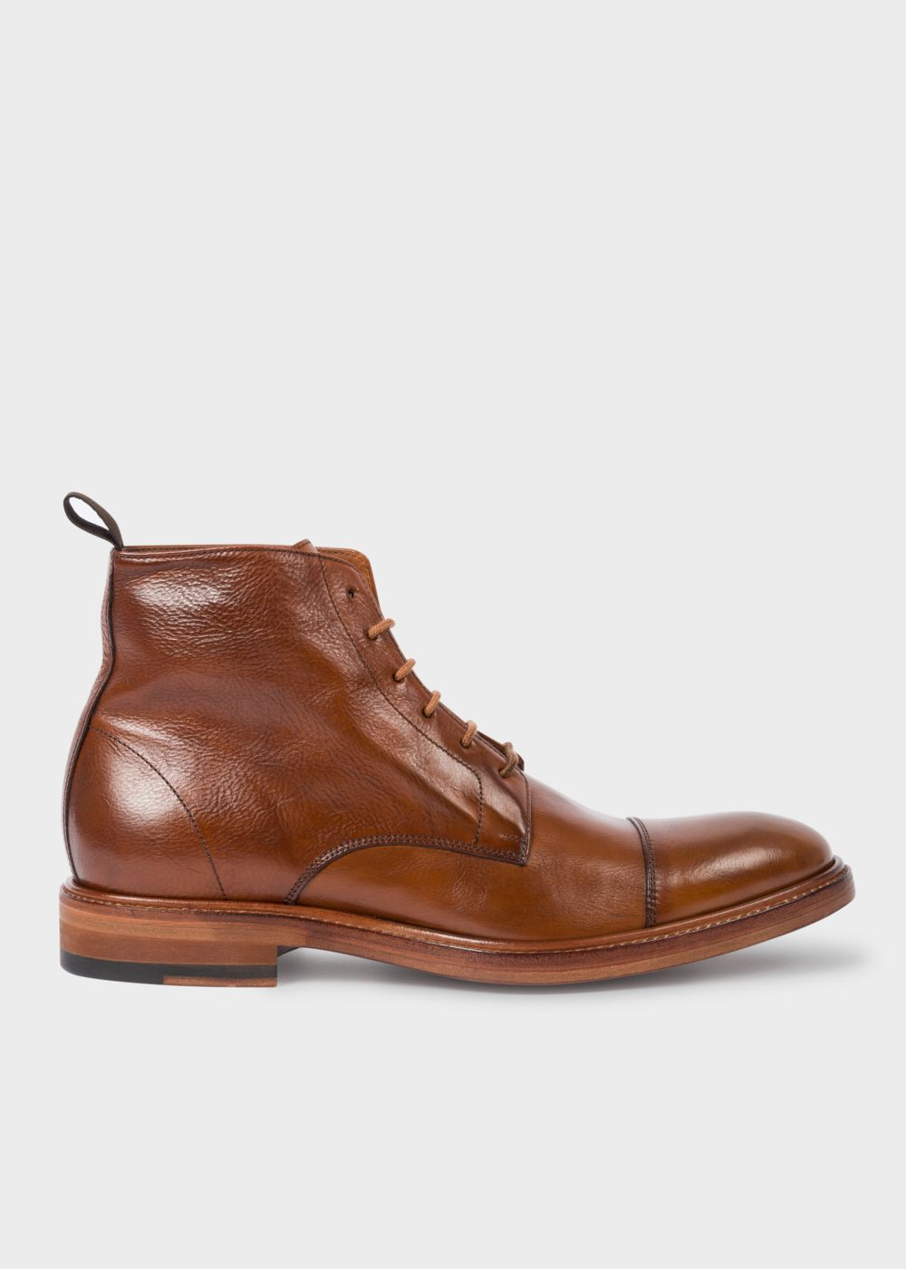 Paul Smith Men's Dip-Dyed Tan Calf Leather 'Jarman' Boots