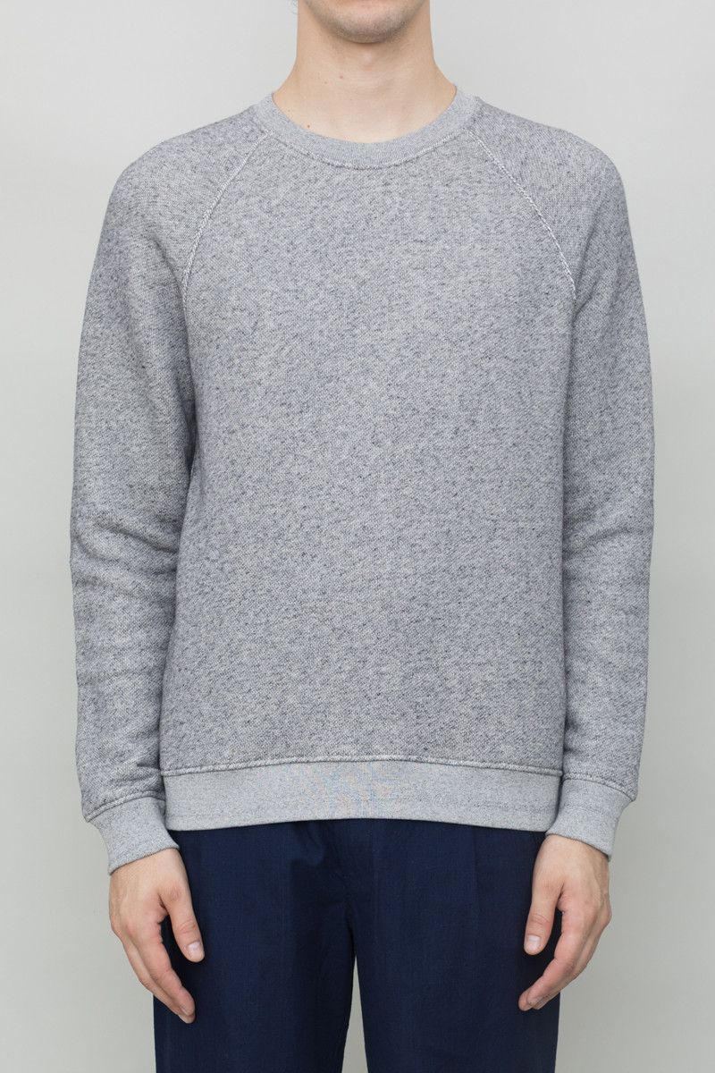 Folk Raglan Sweat - Grey Melange