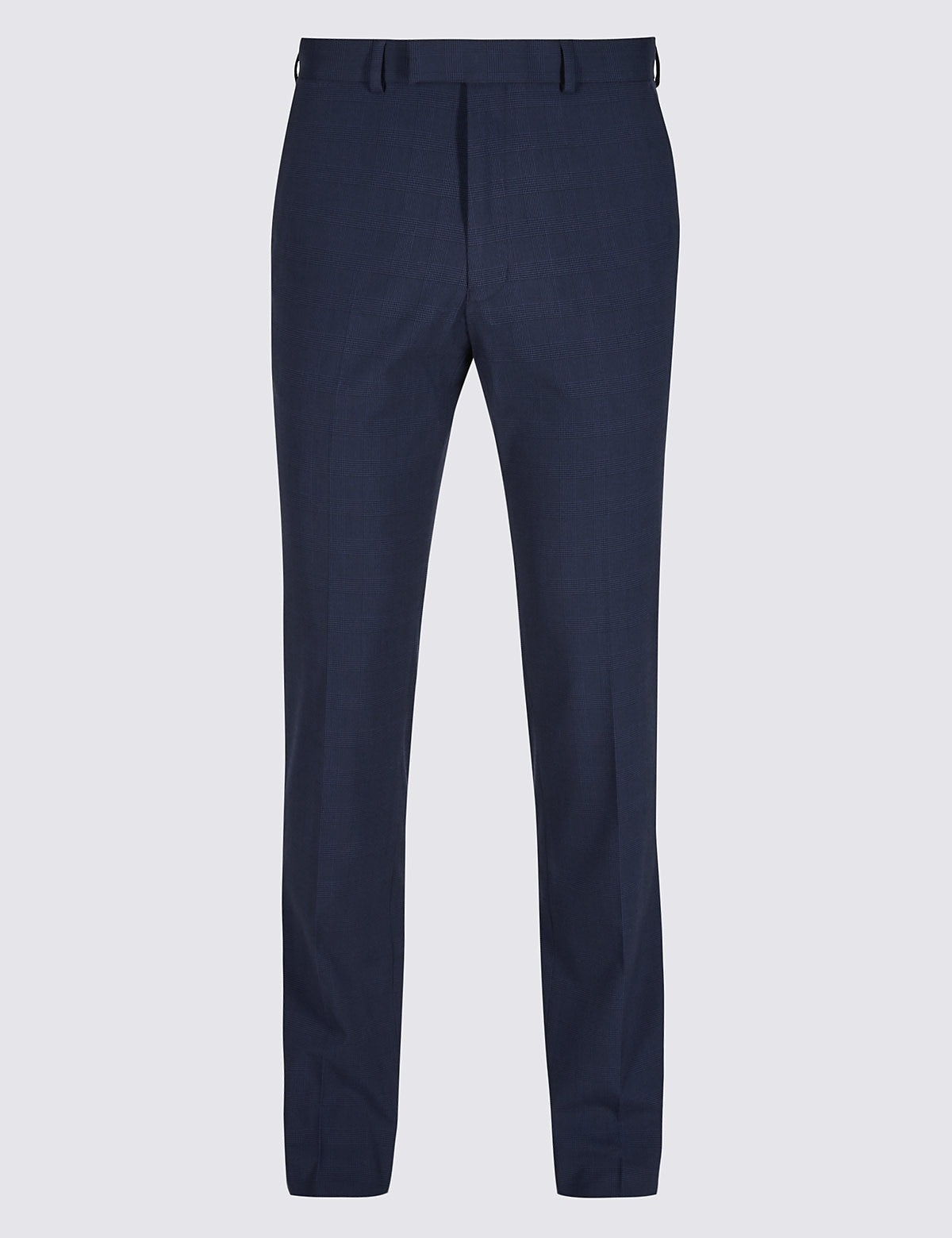 Marks & Spencer Indigo Checked Slim Fit Trousers