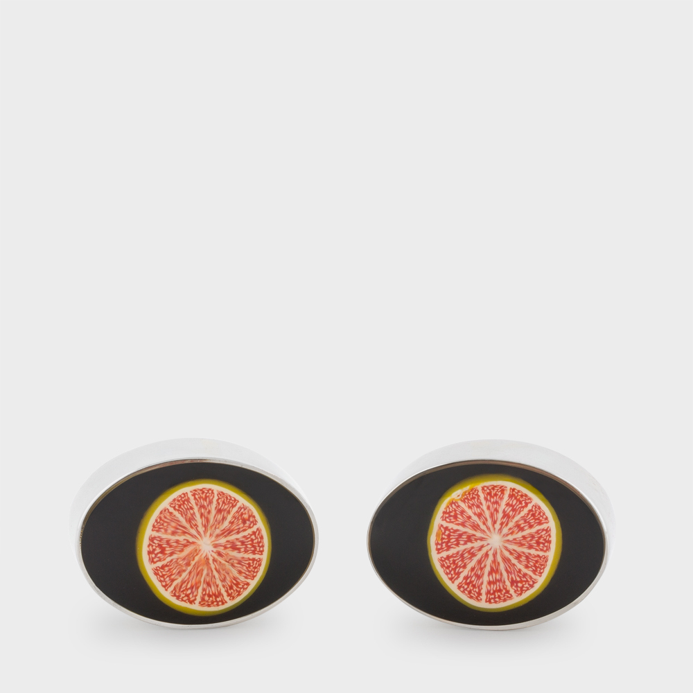 Paul Smith Men's Grapefruit Cufflinks