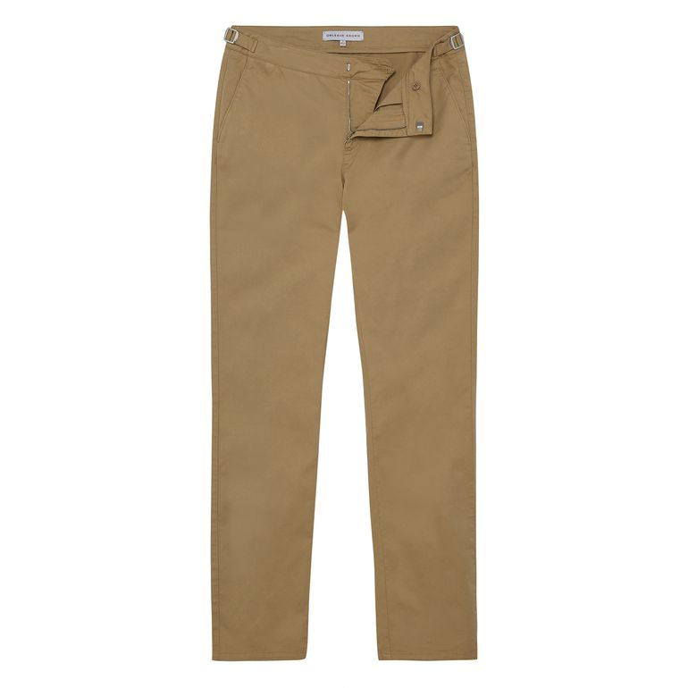 Orlebar Brown CAMPBELL Soft Sand Stretch Slim Fit Side-Fastener Trousers