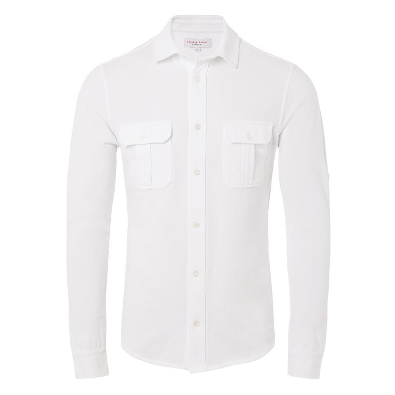 Orlebar Brown LINSEL White Tailored Fit Jersey Shirt