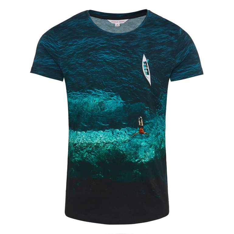 Orlebar Brown OB-T Deep Sea Photographic Tailored Fit Crew Neck T-Shirt