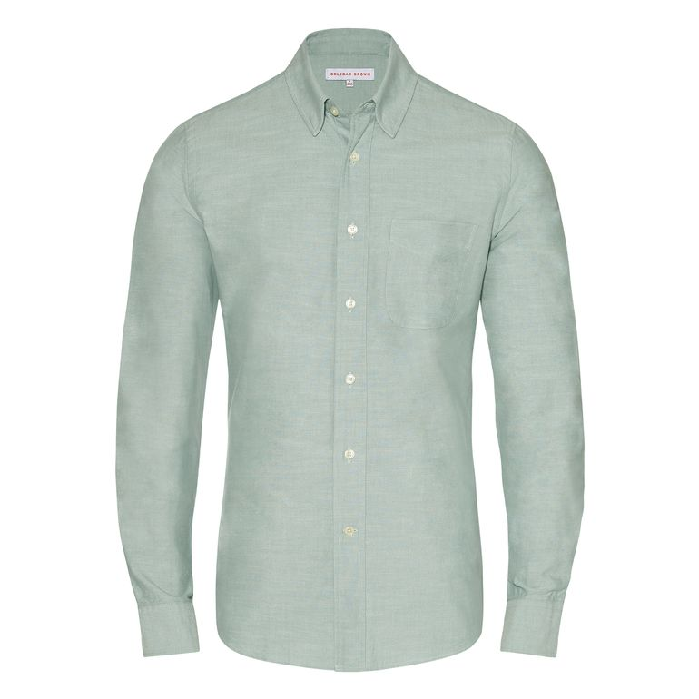 Orlebar Brown OLIVER Pistachio Tailored Fit Button Down Shirt