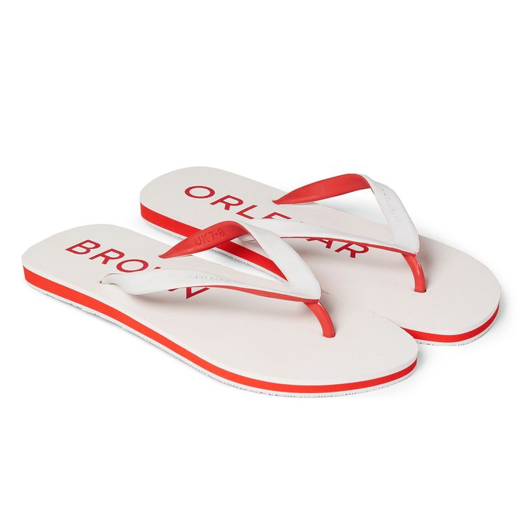 Orlebar Brown White/Rescue Red EFREN White / Rescue Red Two-Tone Flip Flop
