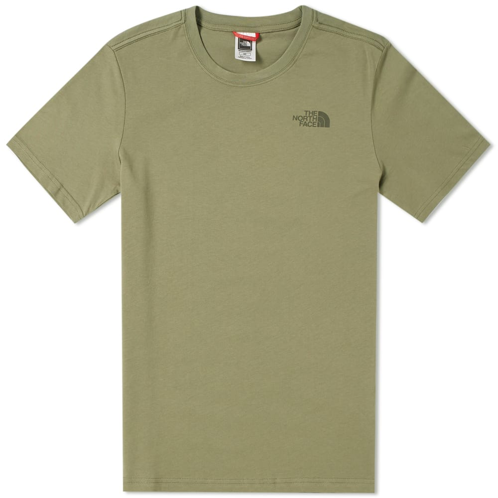 The North Face Deep Lichen Green Red Box Tee