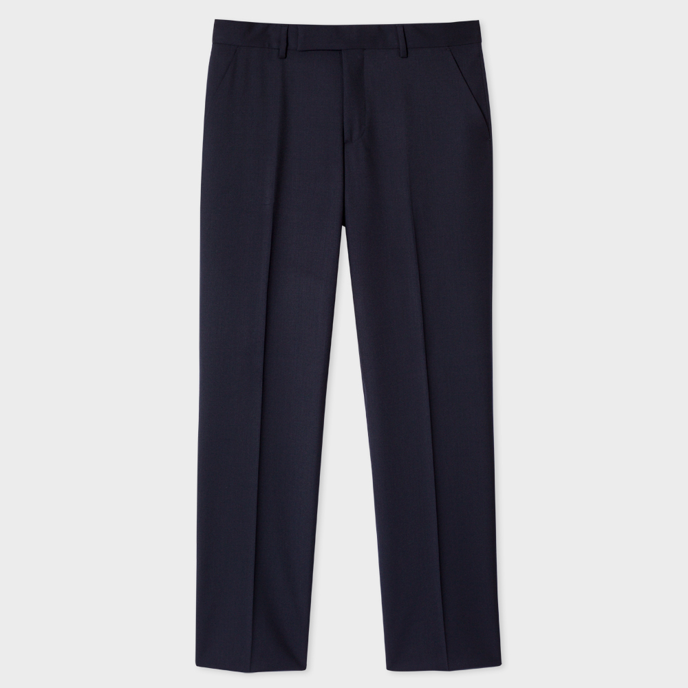 Paul Smith A Suit To Travel In - Men's Classic-Fit Navy Wool Trousers