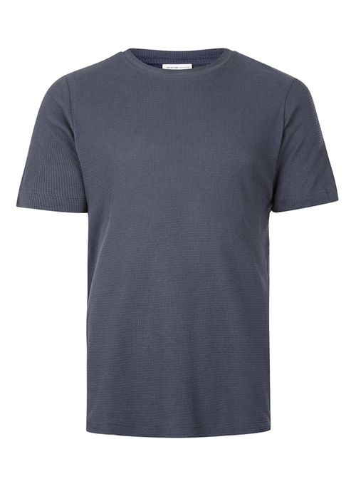 Selected blue textured t-shirt