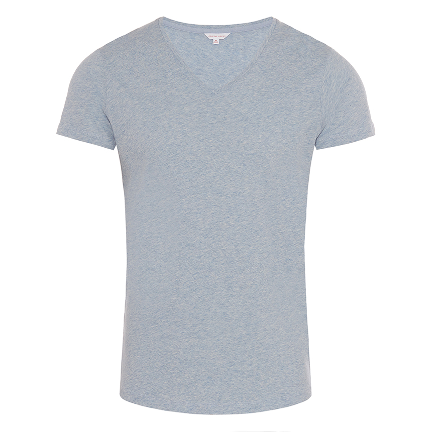Orlebar Brown OB-V Bluestone Melange Tailored-Fit V-Neck T-Shirt