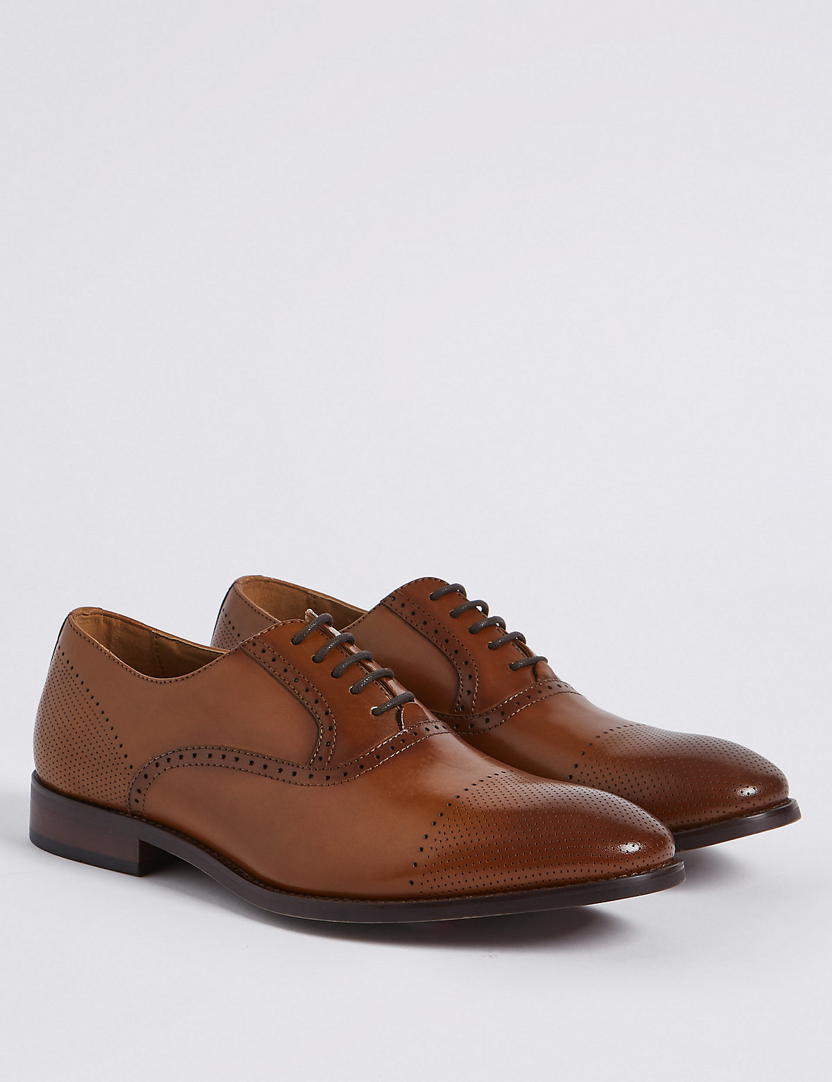 Marks & Spencer Tan Leather Lace-up Oxford Shoes