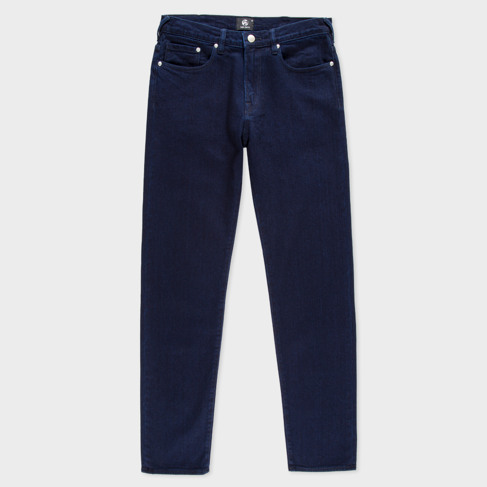 Paul Smith Men's Tapered-Fit Over-Dyed Indigo-Wash Stretch Jeans