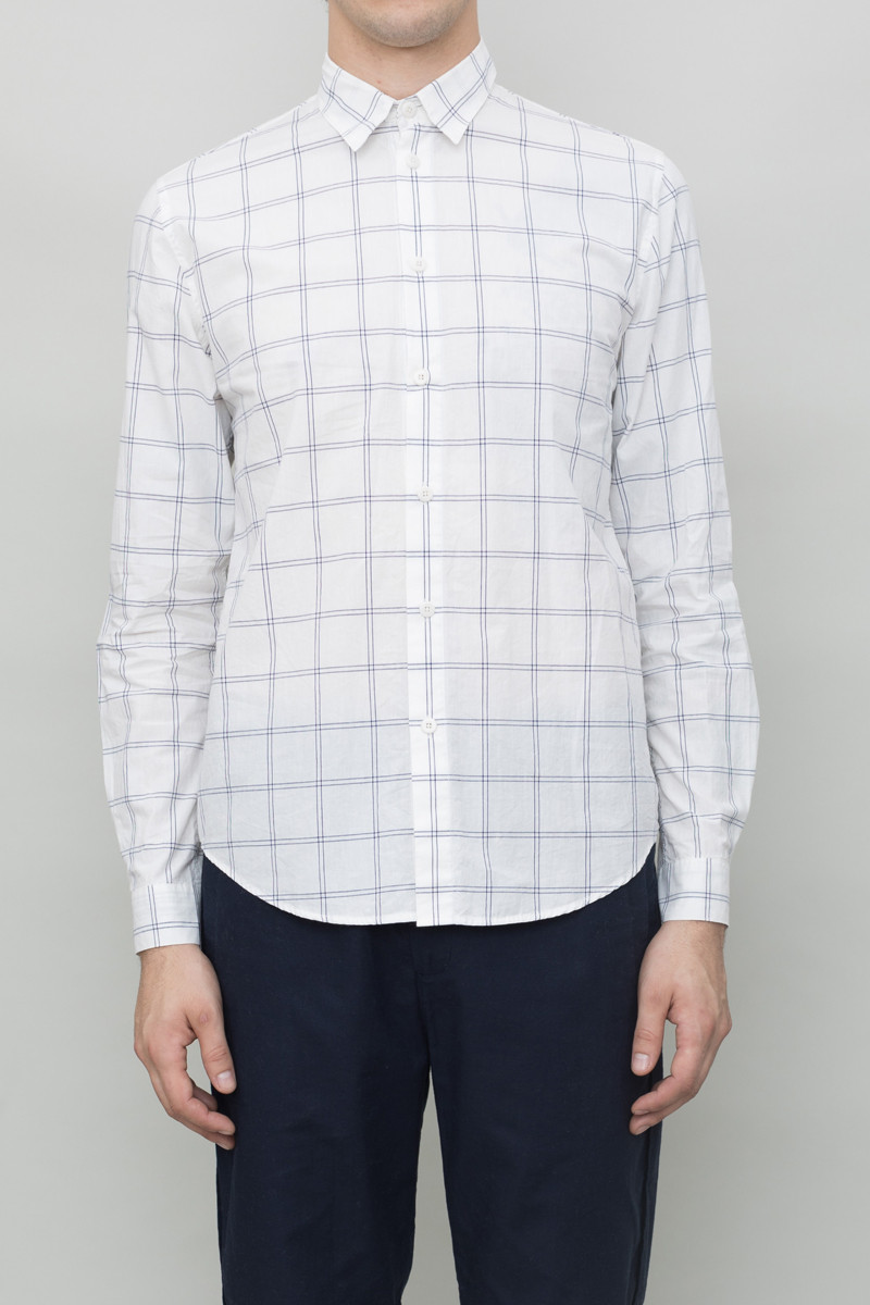 Folk Storm Shirt - White Check
