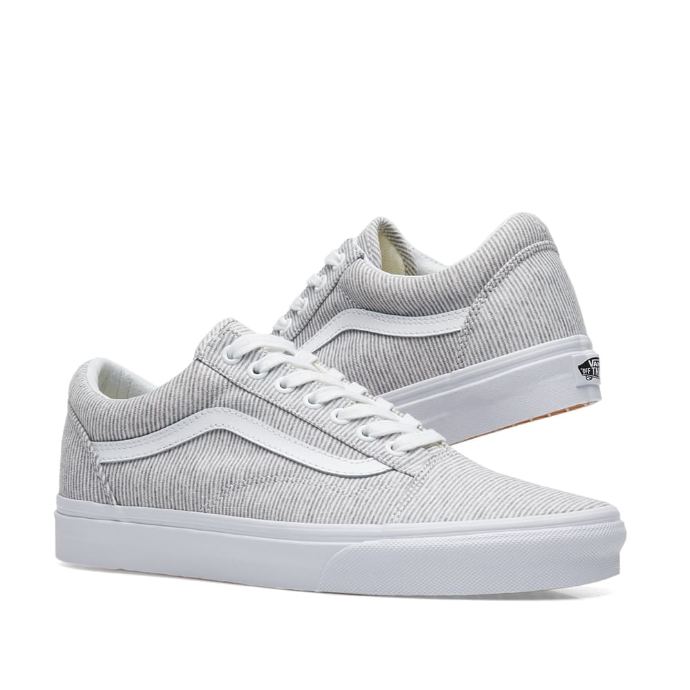 Vans Jersey Old Skool Grey And True White Hot Sale, UP TO 70% OFF