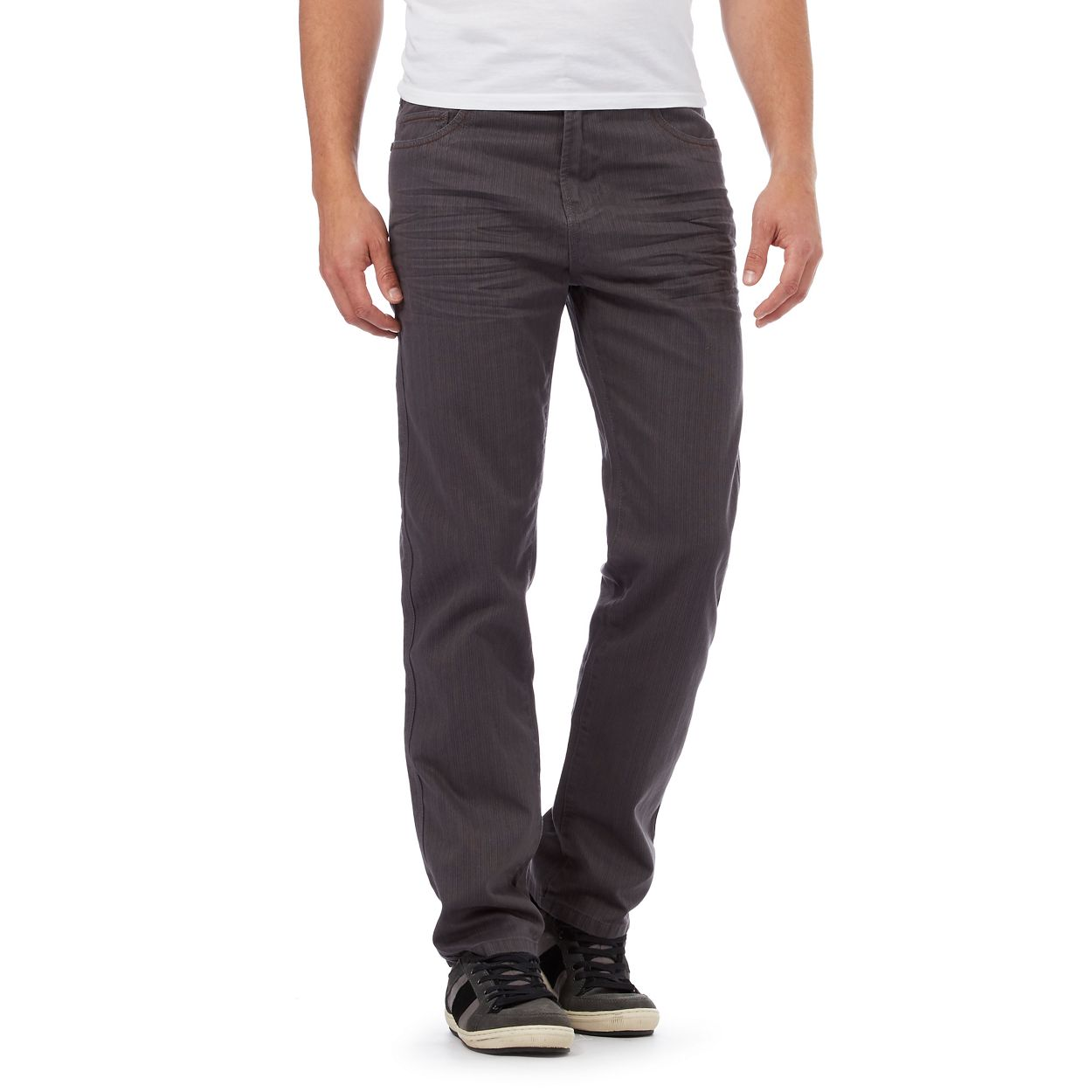 Mantaray Light grey straight leg trousers