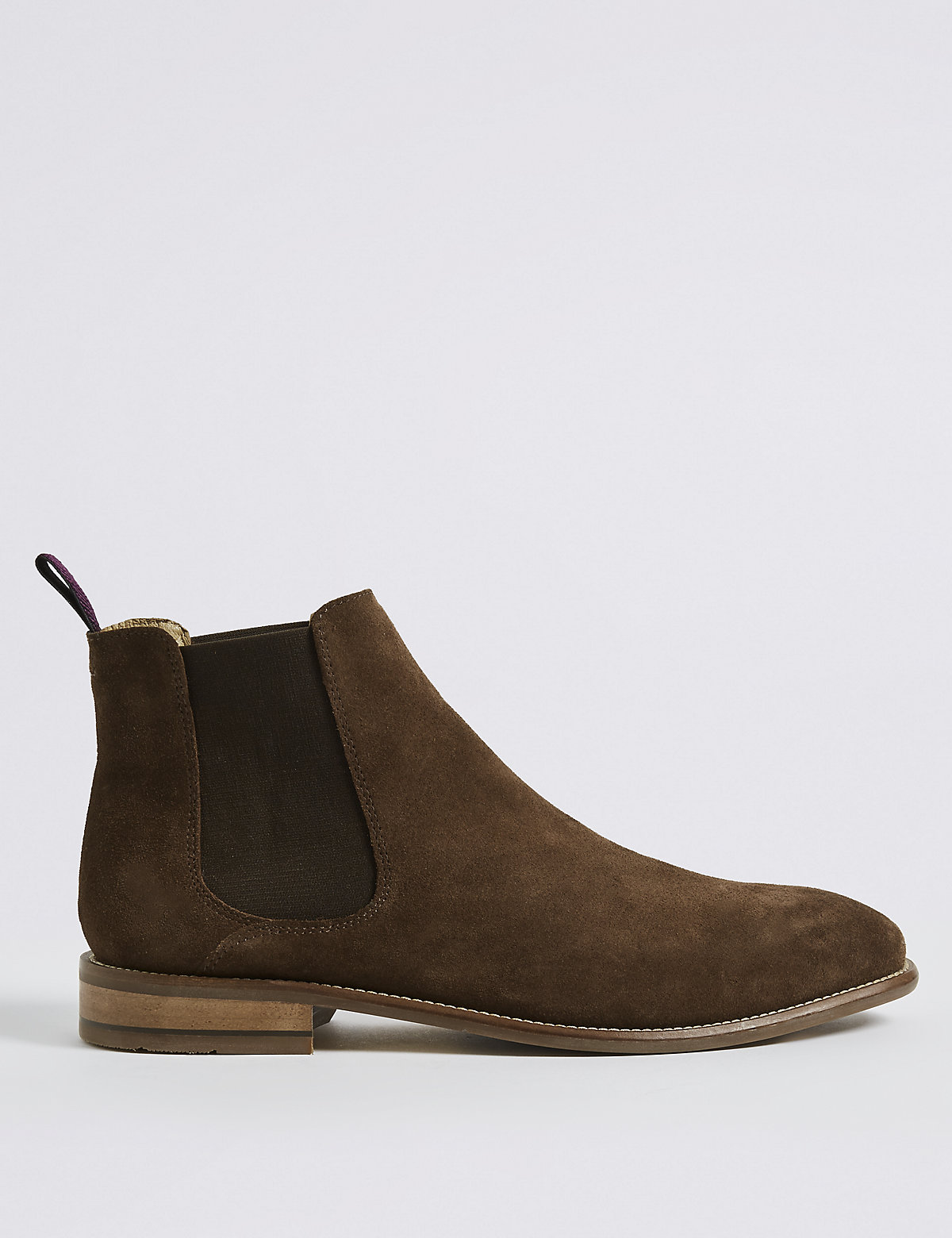 Marks & Spencer Brown Extra Wide Fit Suede Chelsea Boots