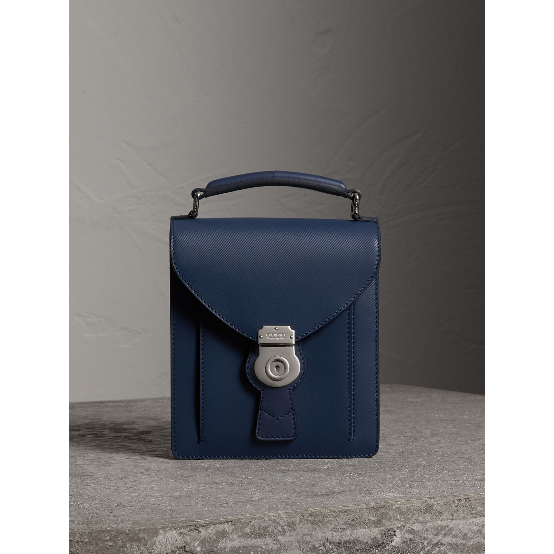 Burberry Ink Blue The Small DK88 Satchel