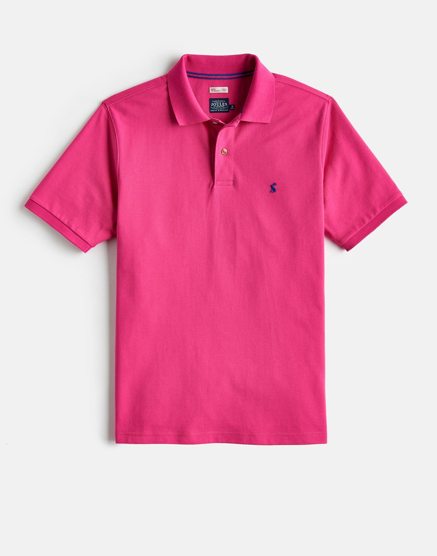 Joules Summer Pink WOODY CLASSIC Fit Polo Shirt