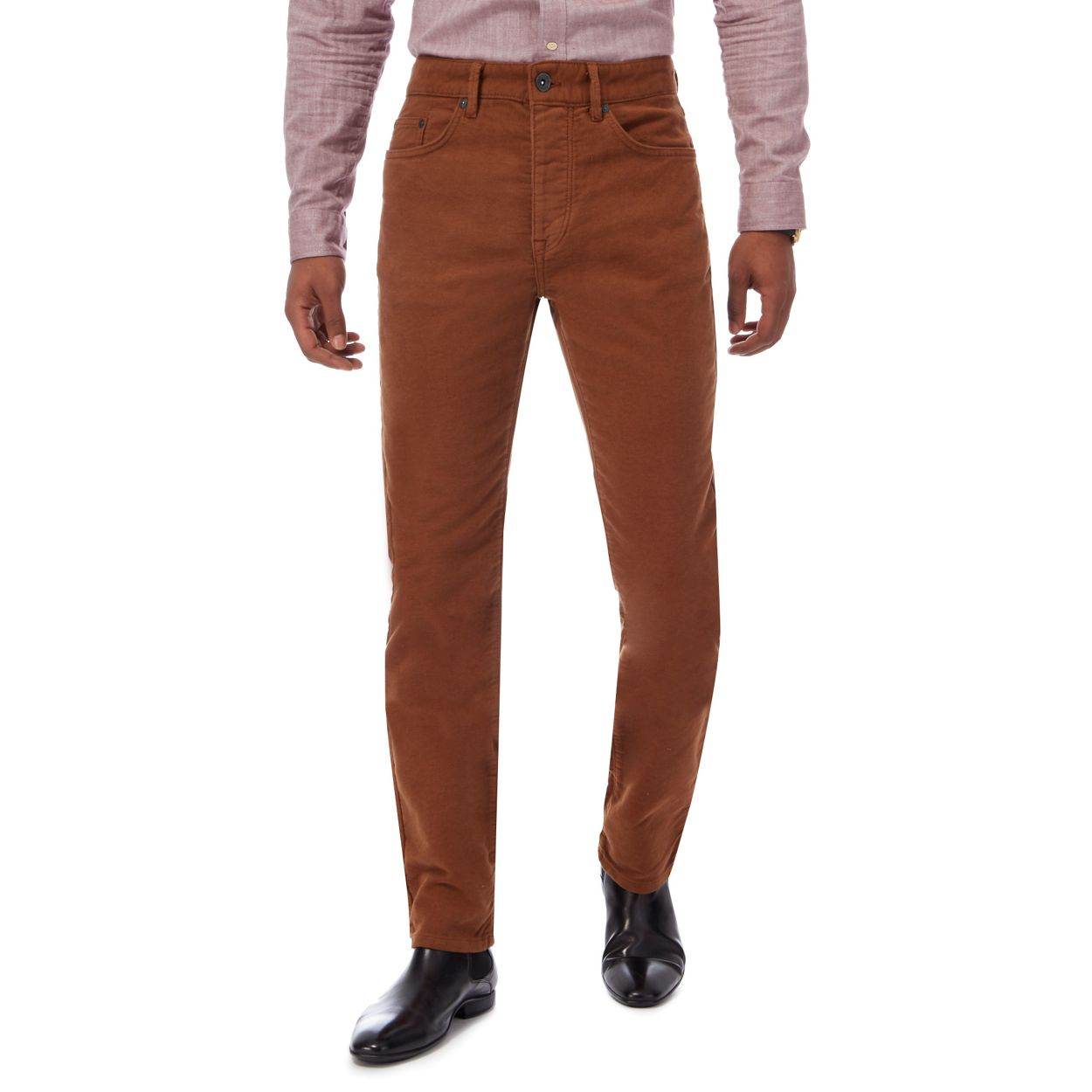 Hammond & Co. by Patrick Grant Tan moleskin tailored fit trousers